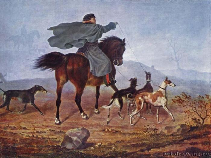Выезд на охоту. 1819 г.