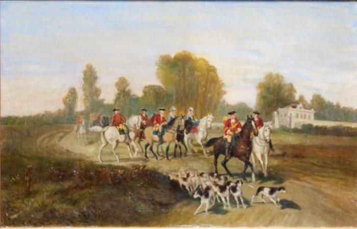Охота с борзыми и гончими при Людовике XV