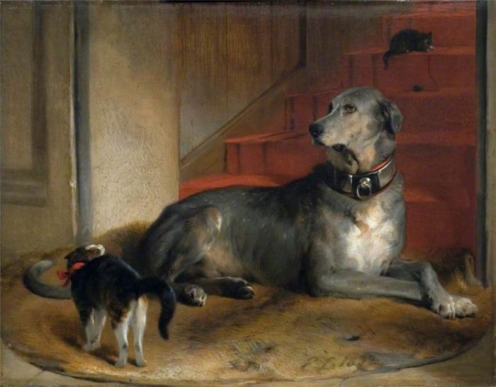 Дог леди Блессингтон - Барьер, 1832 год.