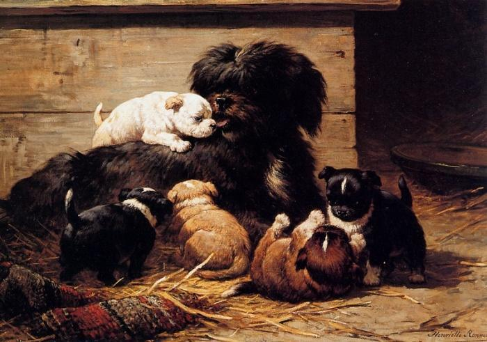 Такую картину могла нарисовать только женщина, которая обожает собак