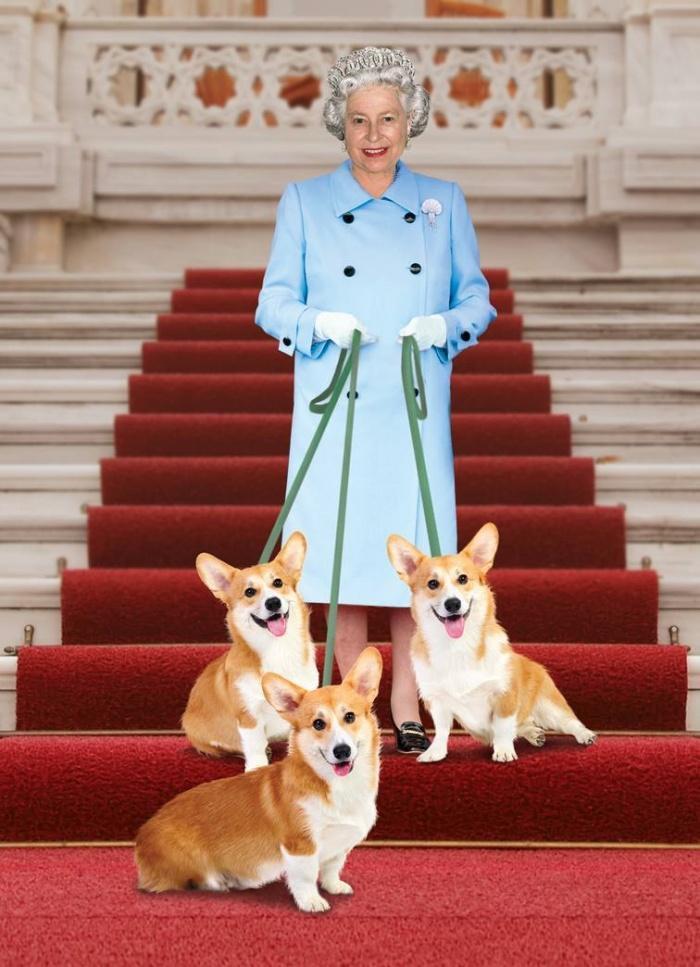 Королева Елизавета со своими любимцами