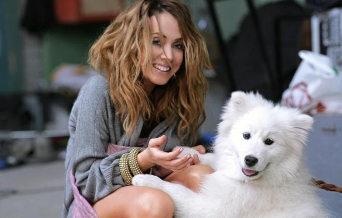 Жанна Фриске с собакой