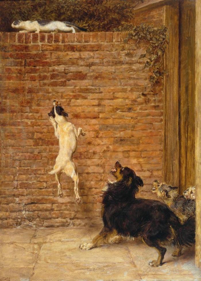 Собаки с кошкой