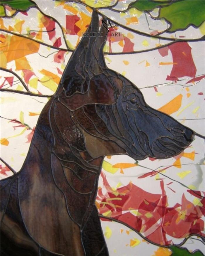 Мексиканская Голая Собака.Витраж. Стиль Тиффани