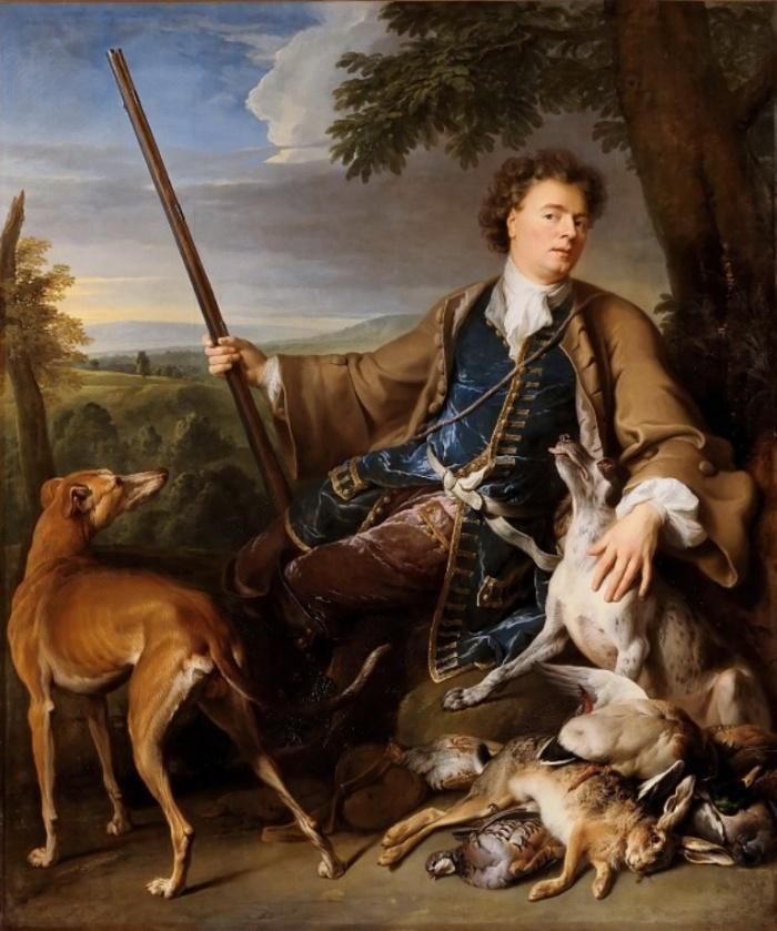 Депорт, Александр-Франсуа (1661 Шампиньоль - 1743 Париж) -- Автопортрет в охотничьем костюме