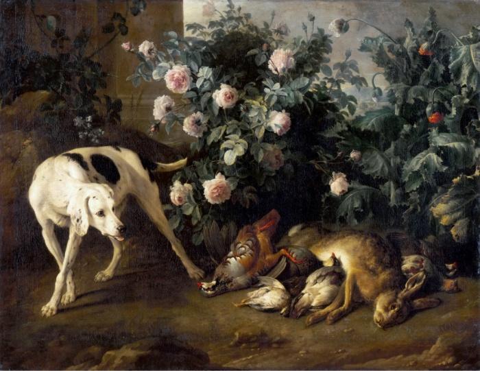 Натюрморт с собакой