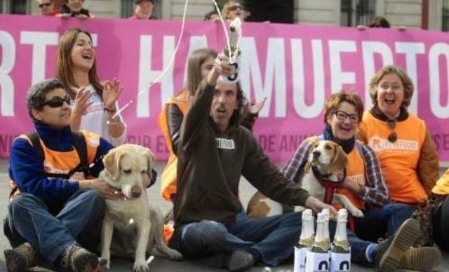 Празднование  победы защитников животных