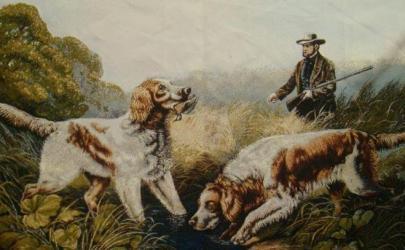 Изображение собак на гобеленах